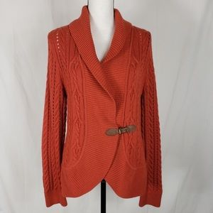 Talbots Burnt Orange Cardigan Sweater
